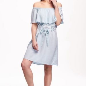 Old Navy Jean Chambray Off Shoulder Dress - Size M